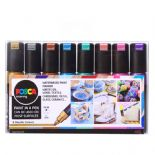 Posca PC-8K 8mm Bold Tip Markers Metallic Set